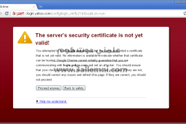 حل مشكلة Server security certificate not yet valid