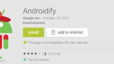 تطبيق Androidify لتصميم شخصيه أندرويد خاصه بك