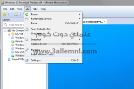 شرح تثبيت Windows 10 كنظام وهمى