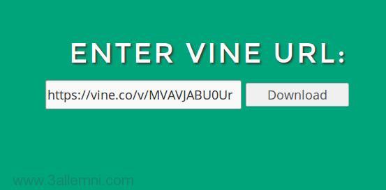 تحميل الفيديوهات من موقع Vine