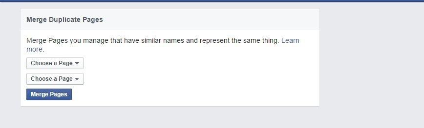 طريقه دمج صفحات الفيسبوك المتشابهة فى الآسماء