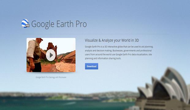 تحميل برنامج google earth pro مجانا