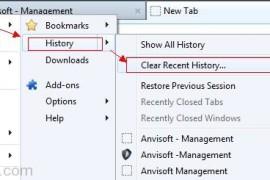 كيفية حذف الهيستوري من متصفح الفايرفوكس