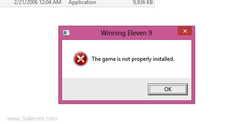 حل مشكله the game is not properly installed