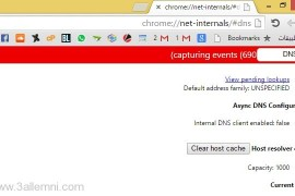 طريقة حذف DNS Cache في متصفح Google Chrome