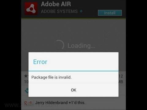 حل مشكله Package File Is Invalid للاندرويد 1