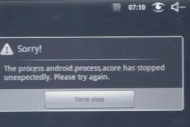 حل مشكله The process android.process.acore has stopped