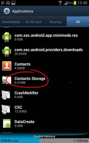 حل مشكله The process android.process.acore has stopped 4