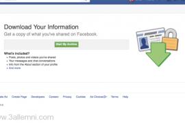 تحميل الرسائل وجميع بياناتك في الفيسبوك