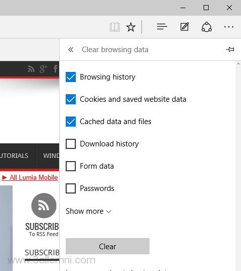 كيفية حذف الهيستوري من متصفح مايكروسوفت إيدج