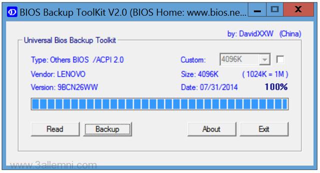 كيفيه عمل نسخه BackUp من BIOS