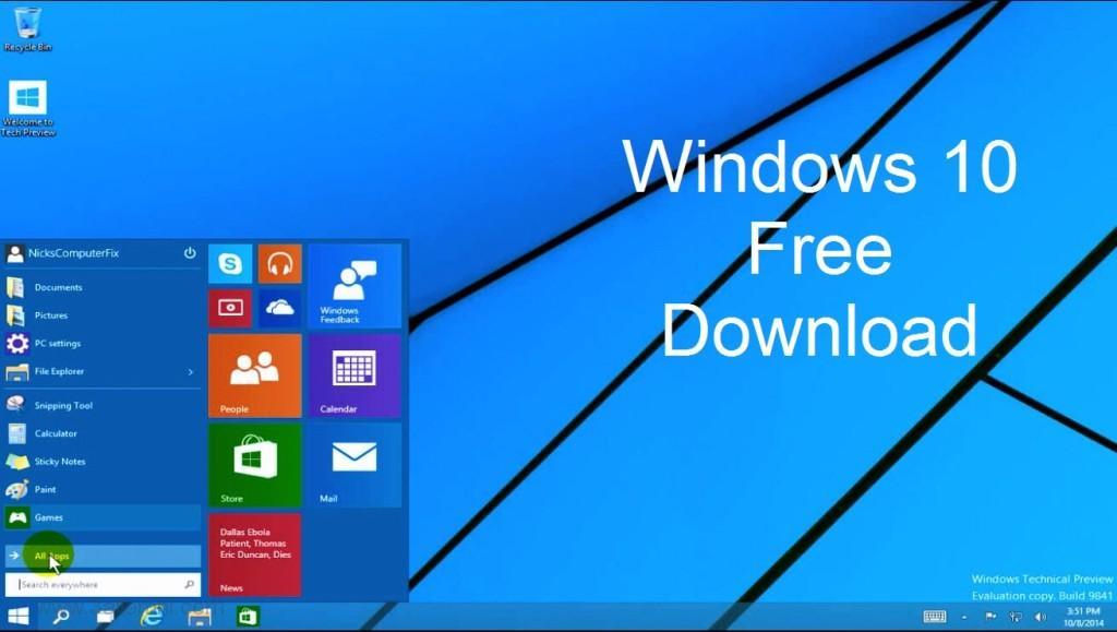 تحميل ويندوز 10 النسخة النهائيه بروابط مباشره مجانا