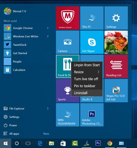حذف-التطبيقات-ويندوز10