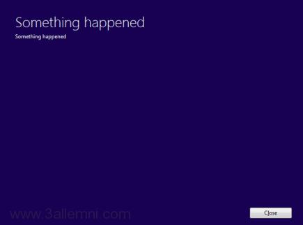 حل خطأ something happened اثناء تحديث ويندوز 10