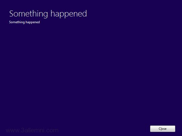 حل خطأ Something Happened اثناء تحديث ويندوز 10 1