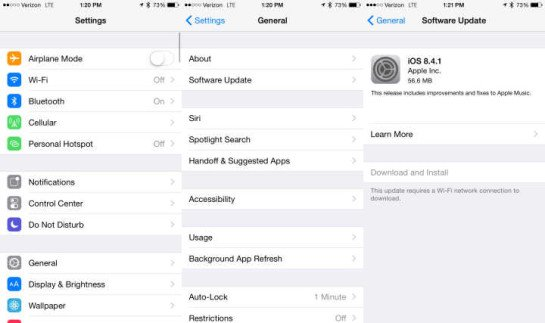 طريقه تحميل iOS 8.4.1 للايفون والايباد