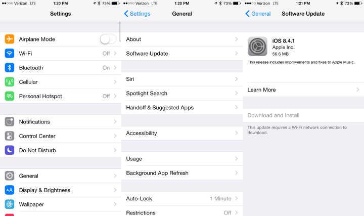 طريقه تحميل و تثبيت iOS 8.4.1 للايفون والايباد 1