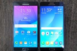 مقارنة بين Galaxy Note 5 و Galaxy Note 4