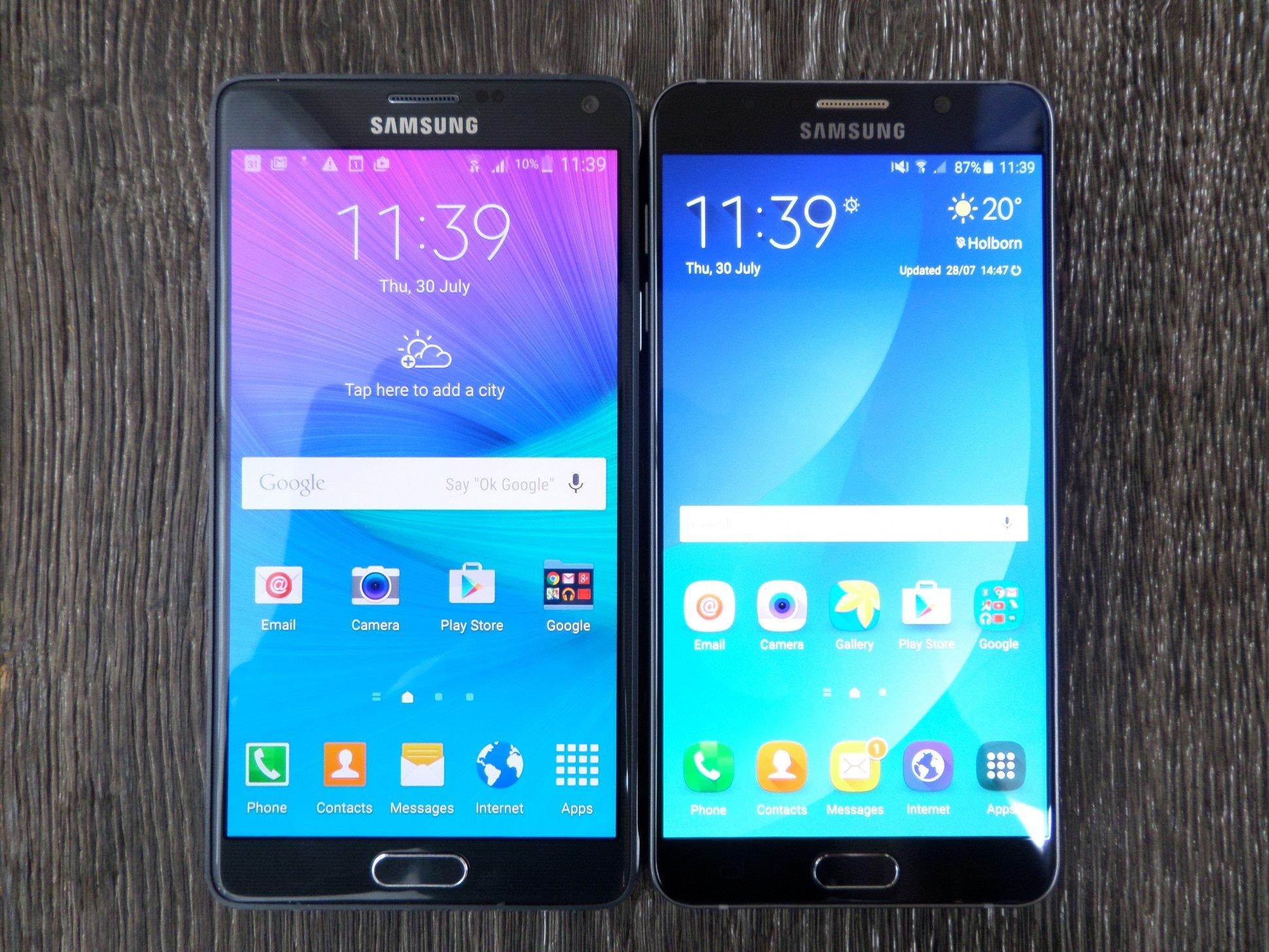 مقارنة بين Galaxy Note 5 و Galaxy Note 4 9