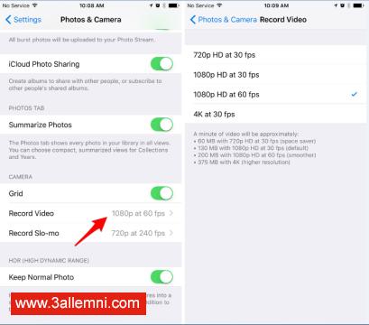 كيفيه تسجيل فيديو بتقنيه 4K فى iPhone 6 و iPhone 6 Plus.jpg