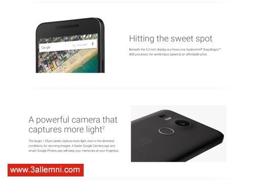 سعر و مواصفات هاتف Nexus 5X 4