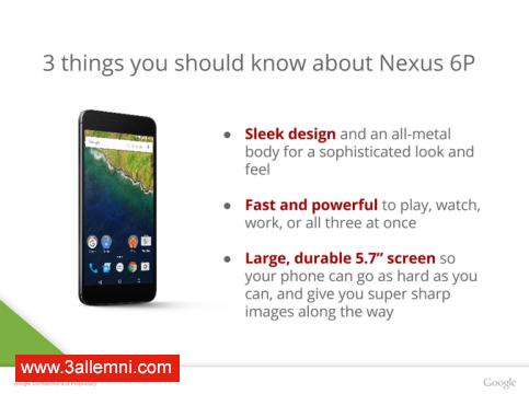 سعر و مواصفات هاتف Nexus 6P 2
