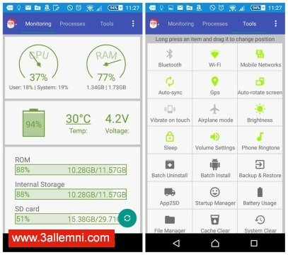 تطبيق Android Assistant لتسريع الاندرويد