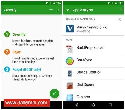 تطبيق Greenify لتسريع الاندرويد