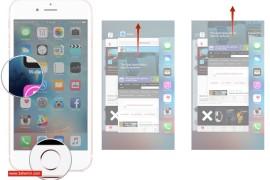 اغلاق التطبيقات في الخلفيه للـ iOS
