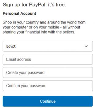 كيفية التسجيل في باي بال PayPal