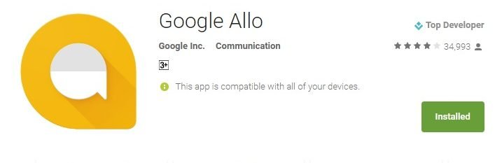 حل مشكله Unfortunately Google Allo Has Stopped للاندرويد 1