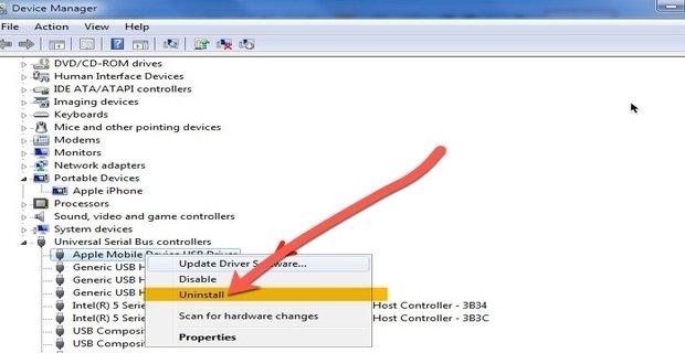 حل مشكلة الـ IPhone لا يظهر على ويندوز 10 2