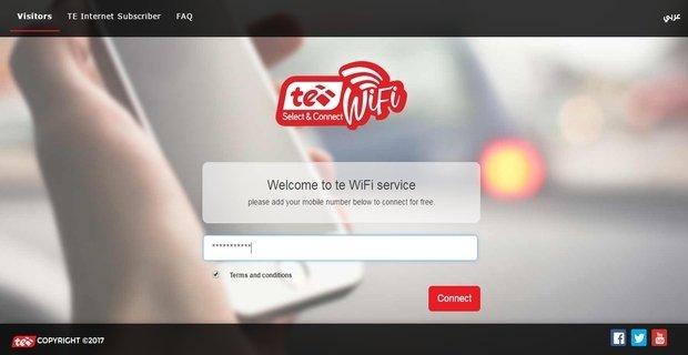 طريقة الأتصال بشبكة الأنترنت Te-WiFi فى الأماكن العامة 3