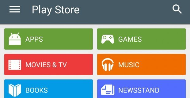 Google Play Ctegories