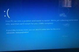 """حل مشكله الشاشه الزرقاء """"Memory_Management"""" فى ويندوز 7 و 8 و 10"""