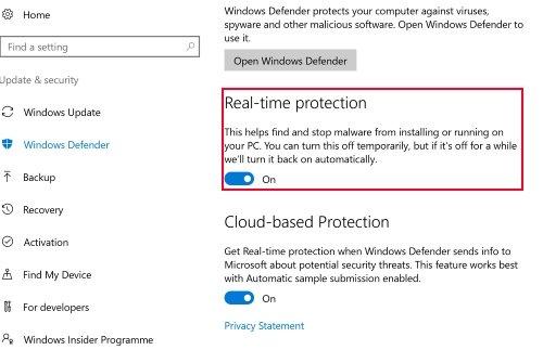 كيفية تعطيل Windows Defender في ويندوز 10 2