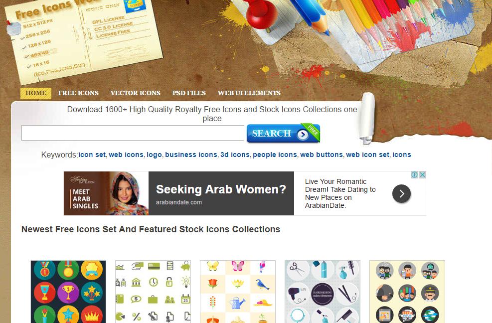 مواقع تحميل ايقونات مجاناً - Download free icons 3