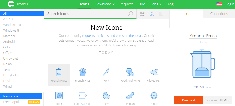 مواقع تحميل ايقونات مجاناً - Download free icons 2