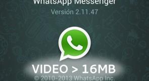 كيف تقوم بإرسال مقاطع فيديو كبيرة الحجم علي تطبيق WhatsApp