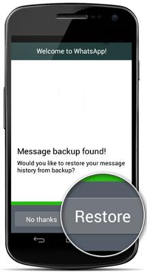 كيف تقوم بأستعادة رسائل WhatsApp علي الأندرويد و iOS