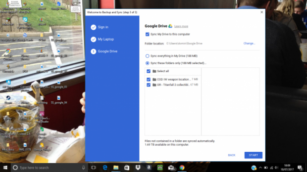 كيفيه عمل مزامنة بين ملفات الكمبيوتر وجوجل درايف 4