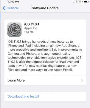 تحميل iOS 11.0.1 بروابط مباشره للايفون والايباد 2