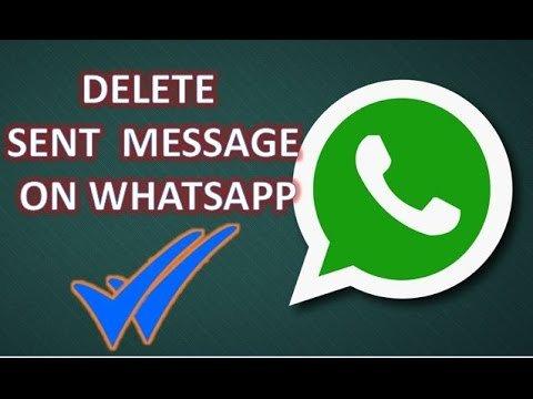 طريقة حذف الرسائل المرسلة Whatsapp 1