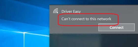 حل مشكلة cannot connect to this network فى ويندوز 10 1