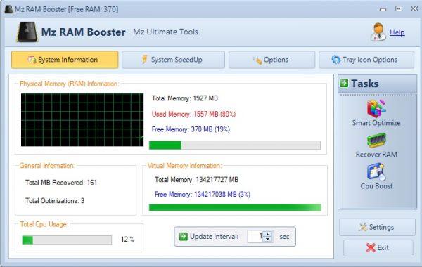 أداة Mz Ram Booster لتحسين أداء الكمبيوتر و اللاب توب 2