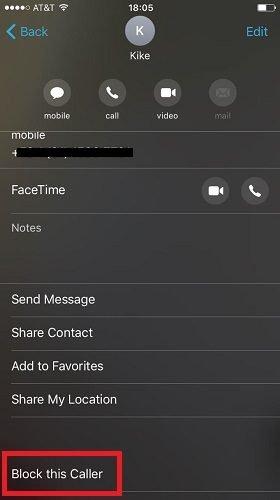 طريقة حظر المكالمات في الايفون 5