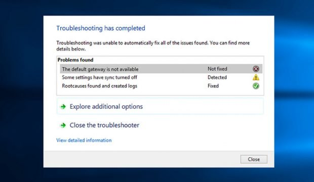 حل مشكلة The Default Gateway Is Not Available في نظام ويندوز 10 1