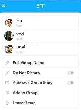 "كيفيه انشاء جروب ""Group"" فى سناب شات 7"