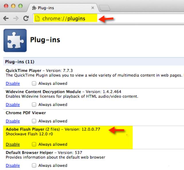 حل مشكلة Shockwave flash has crashed في يوتيوب على متصفح كروم 2