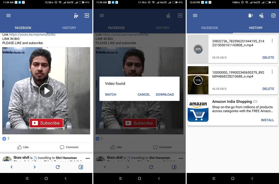 أفضل 5 تطبيقات لتحميل فيديوهات فيسبوك اندرويد وايفون 8